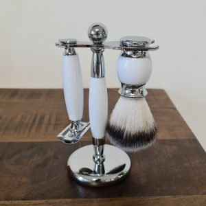Beard Shaving Set White